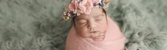 Lutz Newborn Photographer | Colorful Newborn Girl Session