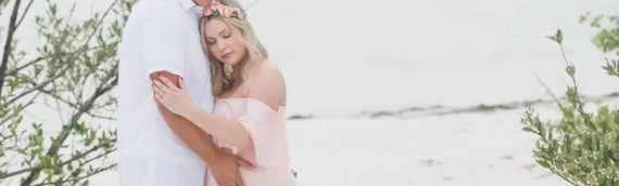 Whimsical Maternity Session | Honeymoon Island