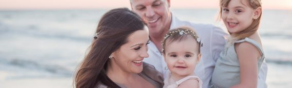 Kate is One! – Sand Key Sunset Family Session
