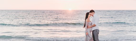Golden Hour Perfection | Sunset Maternity Session