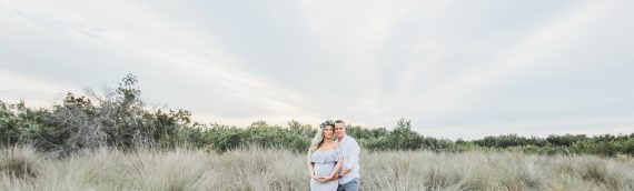 Sunset Maternity Magic | Rustic Beach Session