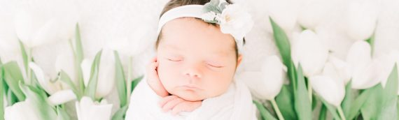 Light and Airy Newborn Session | Baby Ivy
