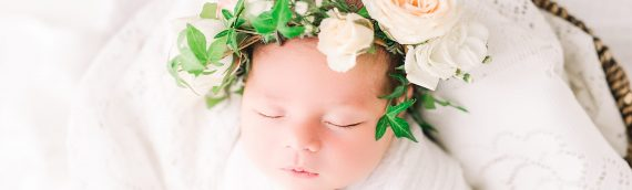 Fresh Flower Crown | Newborn Studio Session